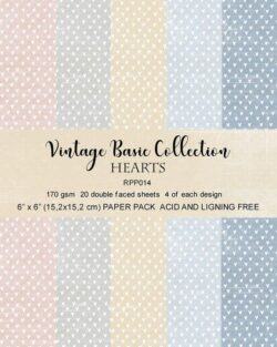 REPRINT Paperpack – 15,2×15,2 cm – Vintage Basic Collection – Hearts
