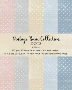 REPRINT Paperpack – 15,2×15,2 cm – Vintage Basic Collection – Dots