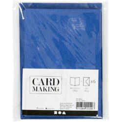 Kort & Kuverter – 10,5 x 15 cm – 6 sæt – Blå