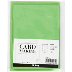 Kort & Kuverter – 10,5 x 15 cm – 6 sæt – Grøn