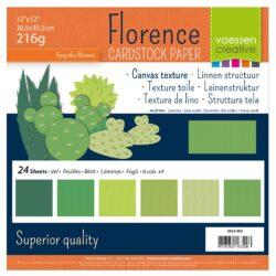 30,5×30,5 cm – 24 ark – Linnenkarton – Grønne nuancer