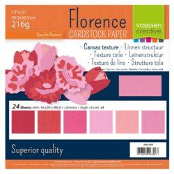 30,5×30,5 cm – 24 ark – Linnenkarton – Røde nuancer