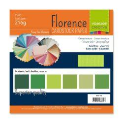 15×15 cm – 24 ark – Linnenkarton – Grønne nuancer