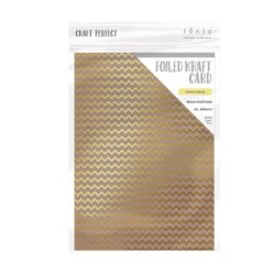 Craft Perfect – Karton med folie – gold zigzag