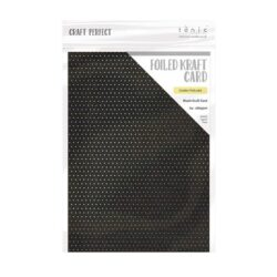 Craft Perfect – Karton med folie – golden polka dot