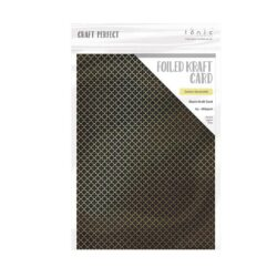 Craft Perfect – Karton med folie – golden quarterfoil