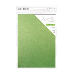 Craft Perfect – Luxury Embossed Card – green leaves