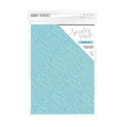 Craft Perfect – Luxury Embossed Card – caribbean tide