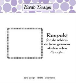 Barto Design stempel – Respekt
