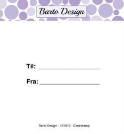 Barto Design stempel – Til og fra