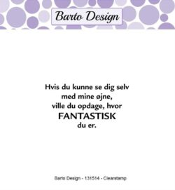 Barto Design stempel – Hvis du kunne se dig selv