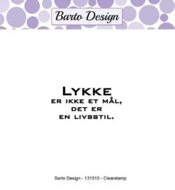 Barto Design stempel – Lykke