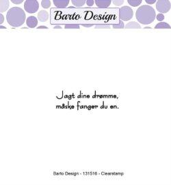 Barto Design stempel – Jagt dine drømme