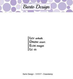 Barto Design stempel – Lev enkelt