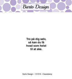 Barto Design stempel – Tro på dig selv