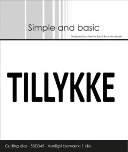 Simple and Basic die – Text Plate – Tillykke
