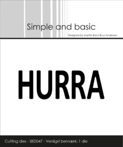 Simple and Basic die – Text Plate – Hurra