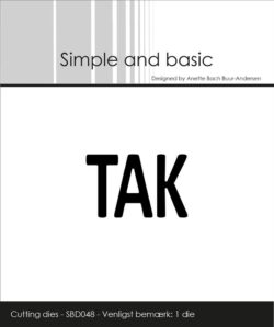 Simple and Basic die – Text Plate – Tak
