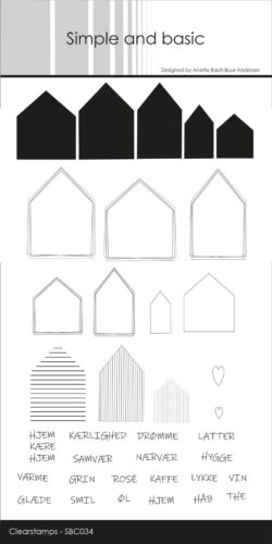 Simple and Basic stempel – Hjem kære hjem