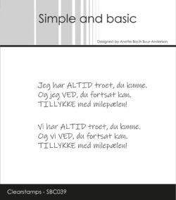Simple and Basic stempel – Jeg har altid troet du kunne