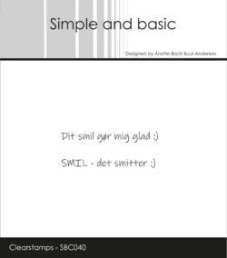 Simple and Basic stempel – Dit smil gør mig glad