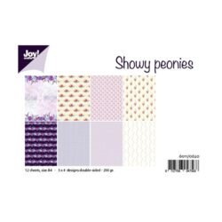 JOY – Paperpad – A4 – Showy Peonies