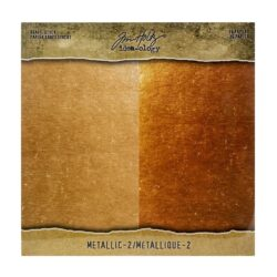 Tim Holtz kraft stock 20,3×20,3cm x36 metallic 2