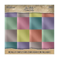 Tim Holtz kraft stock 20,3×20,3cm x36 metallic confections