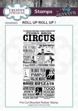 Andy Skinner Rubber Stamp – Roll up Roll up!