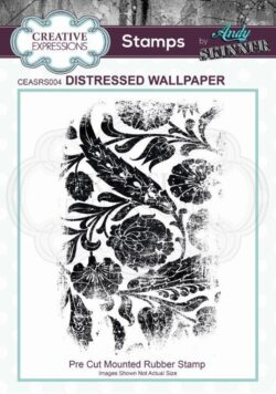 Andy Skinner Rubber Stamp – Distressed Wallpaper