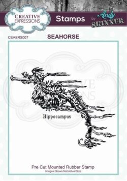 Andy Skinner Rubber Stamp – Seahorse