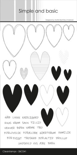 Simple and Basic stempel – Hearts Sketch