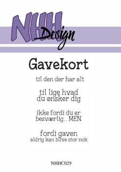 NHH Design Stempel – Gavekort