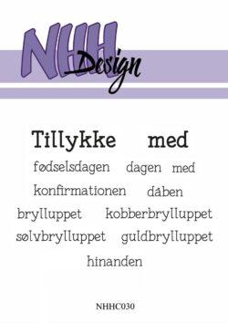 NHH Design Stempel – Tillykke med