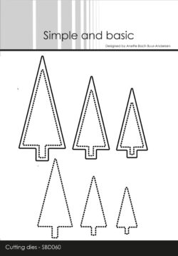 Simple and Basic die – Christmas Trees