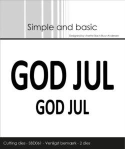 Simple and Basic die – God jul