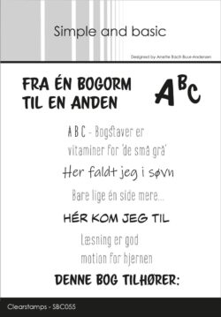 Simple and Basic stempel – Fra én bogorm