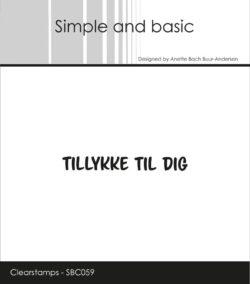 Simple and Basic stempel – Tillykke til dig