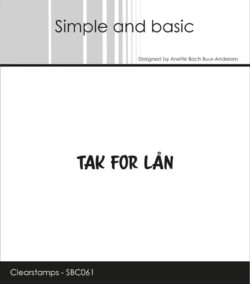 Simple and Basic stempel – Tak for lån