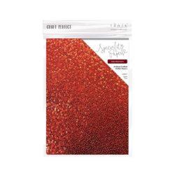 Craft Perfect – Håndlavet bomuldspapir med mønster – Ruby Gemstone