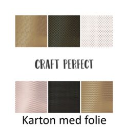 Karton - Craft Perfect med folie