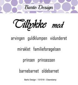 Barto Design stempel – Tillykke med