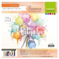 1 ark – Florence – Watercolor paper Smoth – Råhvid – 30,5 x 30,5 cm