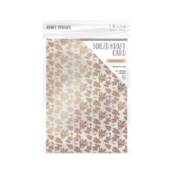 Craft Perfect – Karton med folie – Rose gold posies