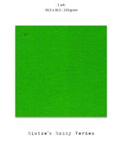 1 ark – 30,5×30,5 cm karton – Græsgrøn