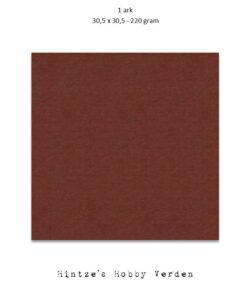1 ark – 30,5×30,5 cm karton – Kaffebrun