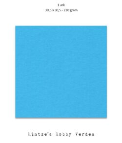 1 ark – 30,5×30,5 cm karton – Klarblå