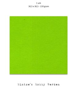 1 ark – 30,5×30,5 cm karton – Løvgrøn