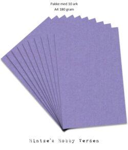 Pakke med 10 ark Playcut A4 Karton Lavendel