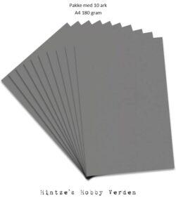 Pakke med 10 ark Playcut A4 Karton grå